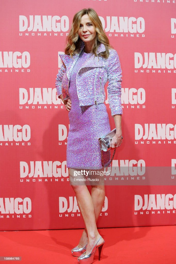 Eliana Miglio attends the 'Django Unchained' premiere at Cinema Adriano on January 4, 2013 in Rome, Italy.