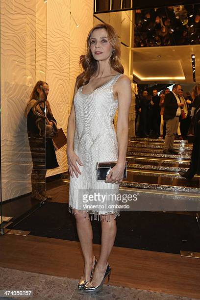 Eliana Miglio attends the Roberto Cavalli Boutique Opening as part of Milan Fashion Week Womenswear Autumn/Winter 2014 on February 22 2014 in Milan...