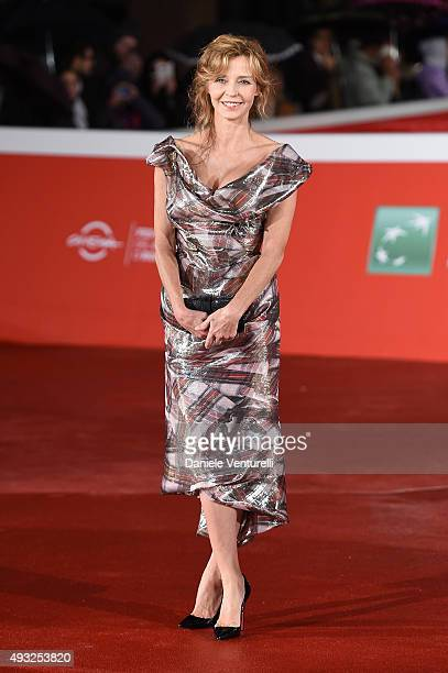 Eliana Miglio walks the red carpet for 'Freeheld' during the 10th Rome Film Fest at Auditorium Parco Della Musica on October 18 2015 in Rome Italy