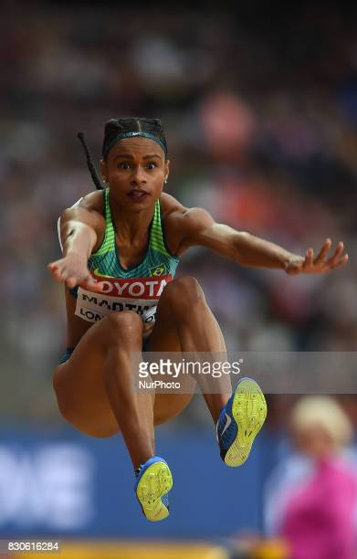 Eliane Martins of Brazil jumps in the long jump final in London at the 2017 IAAF World Championships athletics at the London Stadium in London on...