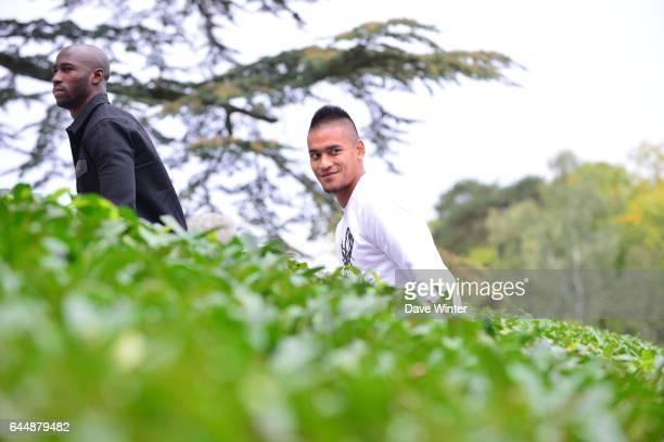 Eliaquim MANGALA / Alphonse AREOLA Arrivee des joueurs Equipe de France Clairefontaine Photo Dave Winter / Icon Sport