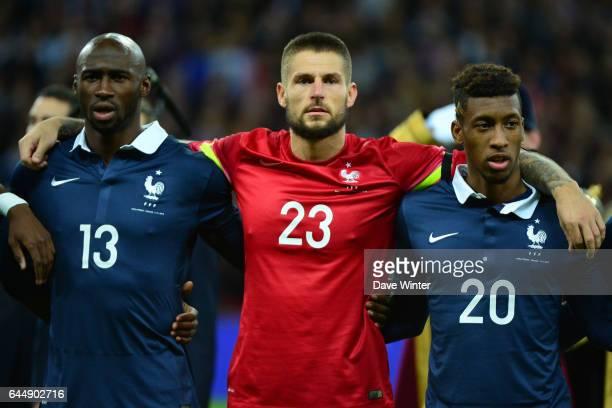 Eliaquim MANGALA / Benoit COSTIL / Kingsley COMAN Angleterre / France Photo Dave Winter / Icon Sport