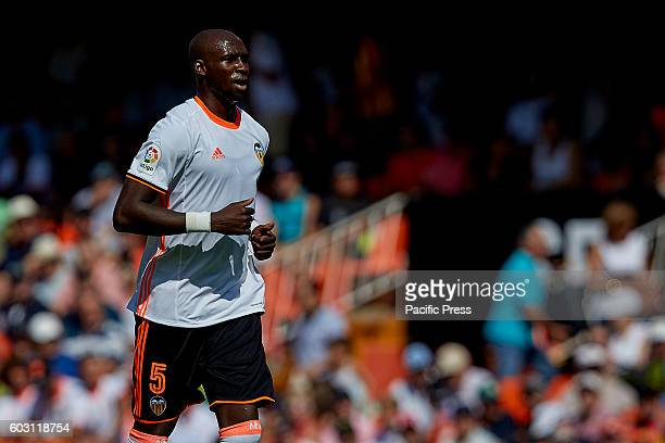 Eliaquim Mangala French defender of Valencia CF looks on during the La Liga game between Valencia CF and Real Betis at Mestalla stadium Game ends...
