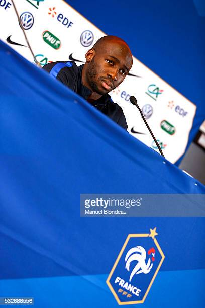 Eliaquim Mangala of France in press conference during the preparation on the French football National Team for Euro 2016 on May 19 2016 in Biarritz...