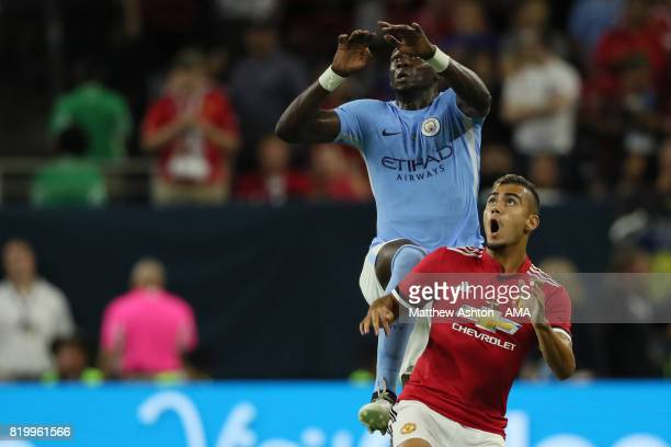 Eliaquim Mangala of Manchester City and Andreas Pereira of Manchester United during the International Champions Cup 2017 match between Manchester...