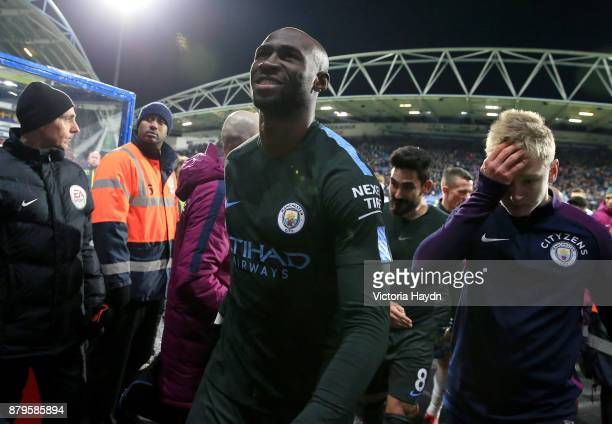Eliaquim Mangala of Manchester City celebrates after the Premier League match between Huddersfield Town and Manchester City at John Smith's Stadium...