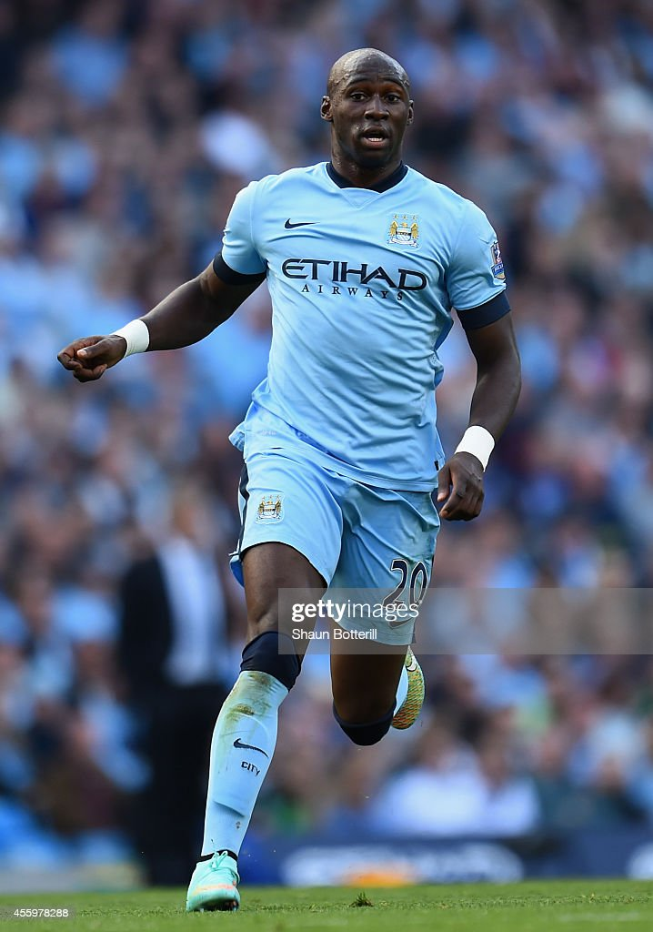 <a gi-track='captionPersonalityLinkClicked' href=/galleries/search?phrase=Eliaquim+Mangala&family=editorial&specificpeople=5713850 ng-click='$event.stopPropagation()'>Eliaquim Mangala</a> of Manchester City during the Barclays Premier League match between Manchester City and Chelsea at the Etihad Stadium on September 21, 2014 in Manchester, England.
