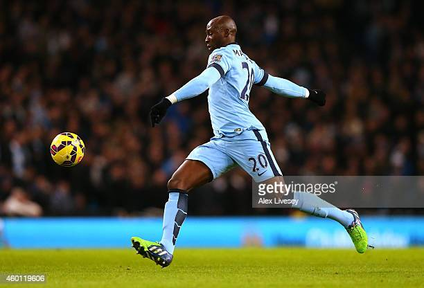 Eliaquim Mangala of Manchester City during the Barclays Premier League match between Manchester City and Everton at Etihad Stadium on December 6 2014...