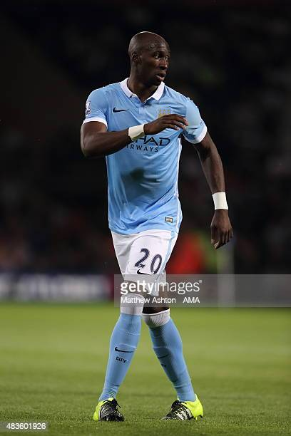 Eliaquim Mangala of Manchester City during the Barclays Premier League match between West Bromwich Albion and Manchester City at The Hawthorns on...