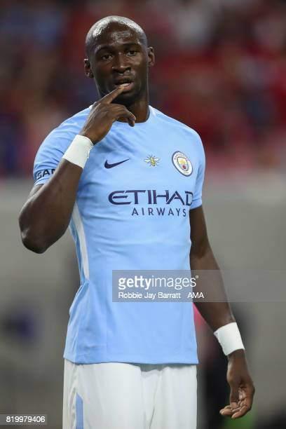 Eliaquim Mangala of Manchester City during the International Champions Cup 2017 match between Manchester United and Manchester City at NRG Stadium on...