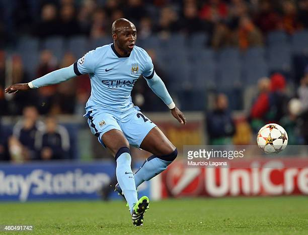 Eliaquim Mangala of Manchester City during the UEFA Champions League Group E match between AS Roma and Manchester City FC on December 10 2014 in Rome...