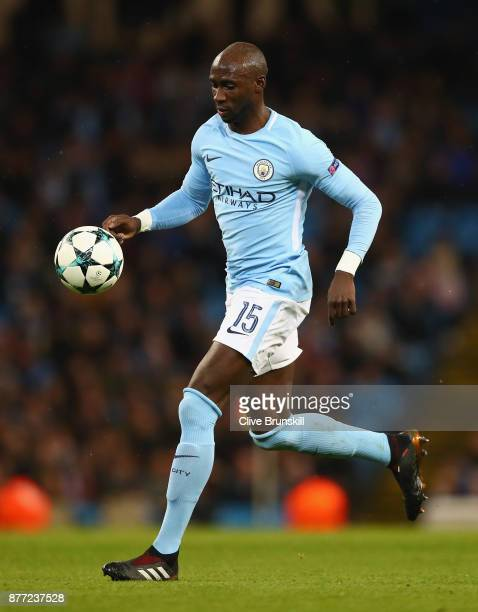 Eliaquim Mangala of Manchester City in action during the UEFA Champions League group F match between Manchester City and Feyenoord at Etihad Stadium...