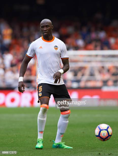Eliaquim Mangala of Valencia CF during their La Liga match between Valencia CF and Villarreal CF at the Mestalla Stadium on 21th May 2017 in Valencia...