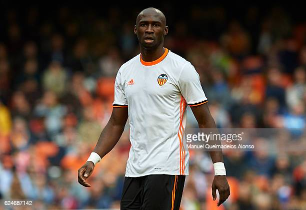 Eliaquim Mangala of Valencia looks on during the La Liga match between Valencia CF and Granada CF at Mestalla Stadium on November 20 2016 in Valencia...