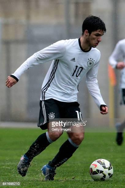 Elias Abouchabaka of Germany U17 during the U17 Algarve Cup Tournament Match between England U17 and Germany U17 on February 12 2017 in Albufeira...