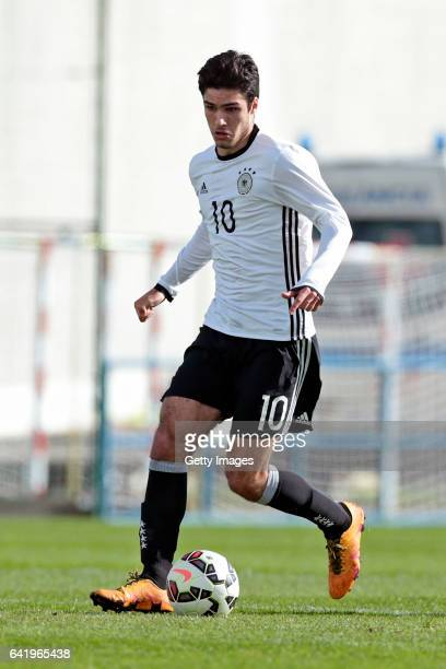 Elias Abouchabaka of Germany U17 during the U17 Algarve Cup Tournament Match between Portugal U17 and germany U17 on February 14 2017 in Ferreiras...