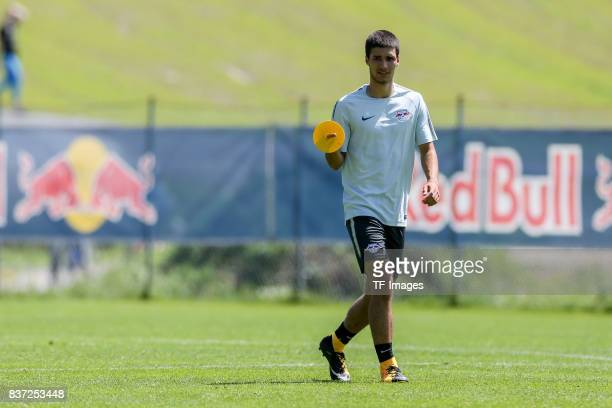 Elias Abouchabaka of RB Leipzig looks on during the Training Camp of RB Leipzig on July 21 2017 in Seefeld Austria