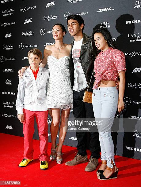 Elias Balthasar Becker Lilly Becker Noah Becker and girlfriend Rafaela Remy Sanchez attend the 'Michalsky StyleNite' during MercedesBenz Fashion Week...