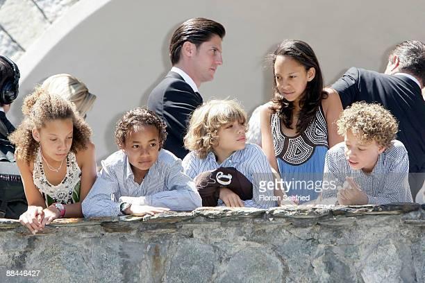 Elias Becker and children attend the legal wedding of Boris Becker and Sharlely Kerssenberg at Segantini Museum on June 12 2009 in St Moritz...