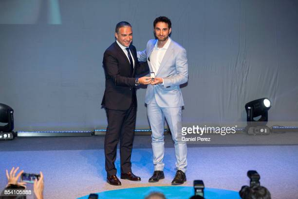 Elias Bendodo and Dani Rovira attend the appointment of Dani Rovira and Maria Teresa Campos Favorite and Adopted Sons of Malaga on September 26 2017...