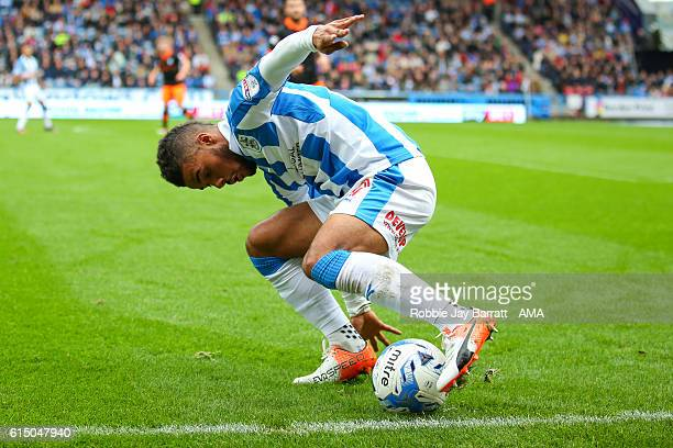 Elias Kachunga of Huddersfield Town during the Sky Bet Championship match between Huddersfield Town and Sheffield Wednesday at John Smith's Stadium...