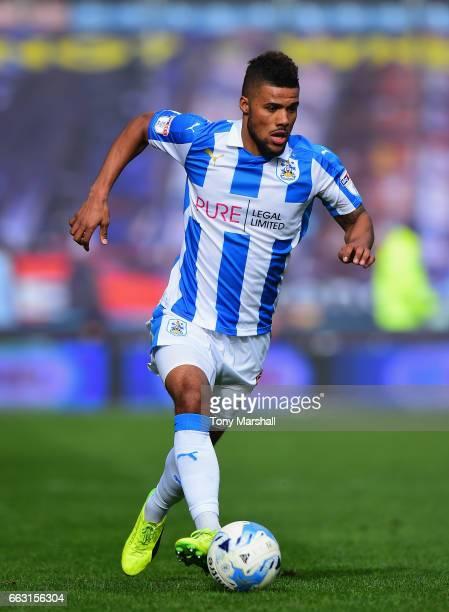 Elias Kachunga of Huddersfield Town during the Sky Bet Championship match between Huddersfield Town and Burton Albion at the John Smiths Stadium...