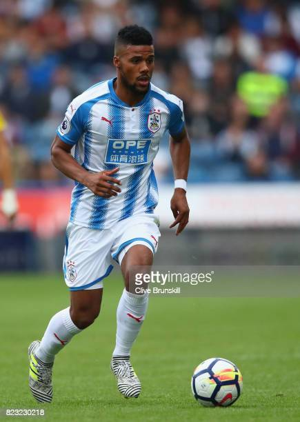 Elias Kachunga of Huddersfield Town in action during the pre season friendly match between Huddersfield Town and Udinese at Galpharm Stadium on July...
