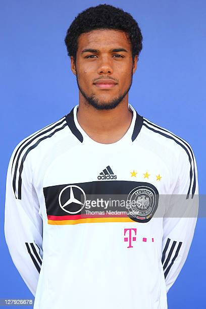 Elias Kachunga poses during the Germany U20 National Team Presentation on October 3 2011 in Riederich Germany