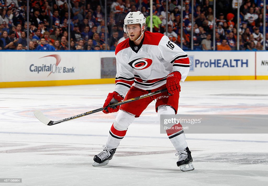 <a gi-track='captionPersonalityLinkClicked' href=/galleries/search?phrase=Elias+Lindholm&family=editorial&specificpeople=8613151 ng-click='$event.stopPropagation()'>Elias Lindholm</a> #16 of the Carolina Hurricanes skates against the New York Islanders at the Nassau Veterans Memorial Coliseum on October 11, 2014 in Uniondale, New York.