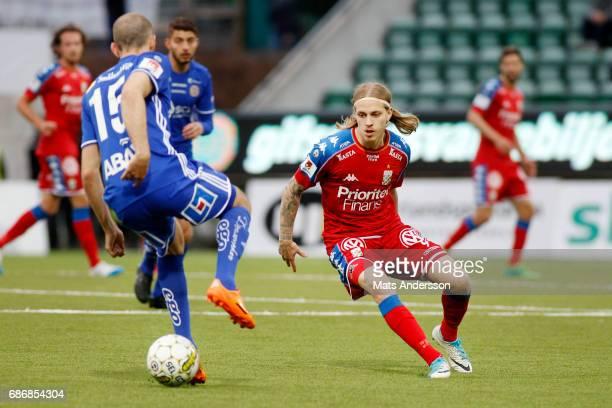 Elias Mar Omarsson of IFK Goteborg during the Allsvenskan match between GIF Sundsvall and IFK Goteborg at Idrottsparken on May 22 2017 in Sundsvall...