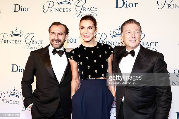 Elias Sacal and Mar Flores and Makram Azar at the 2016 Princess Grace Awards Gala at Cipriani 25 Broadway on October 24 2016 in New York City