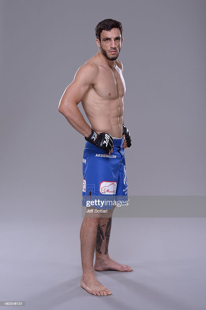 Elias Silverio poses for a portrait during a UFC photo session on January 12, 2014 in Duluth, Georgia.