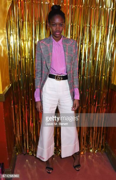 Elibeidy Martinez attends the Gucci and iD party celebrating the Gucci PreFall 2017 campaign at the Mildmay Club in Stoke Newington on April 27 2017...