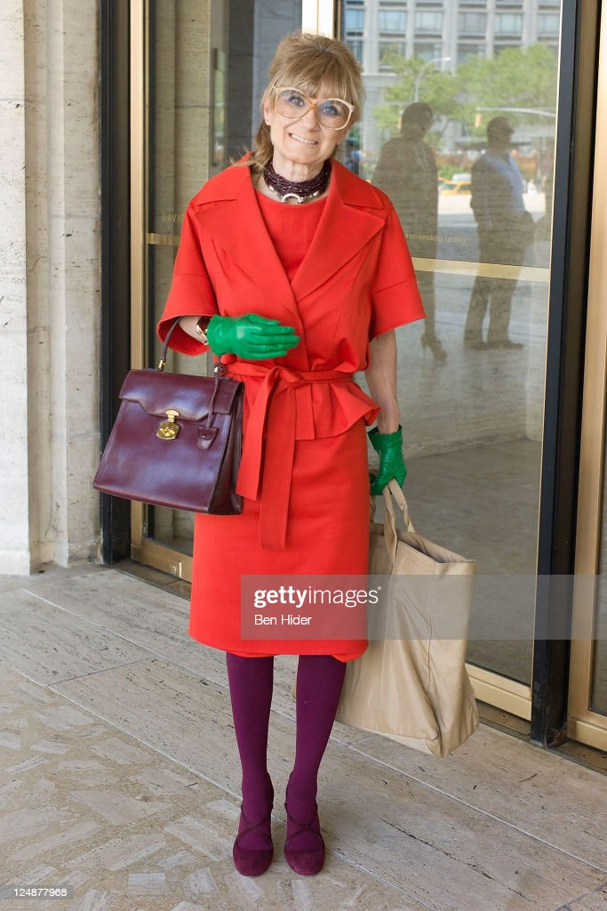 Elida Olsen is seen wearing Escada and Hermes on the streets of Manhattan during Spring 2012 Fashion Week on September 13, 2011 in New York City.