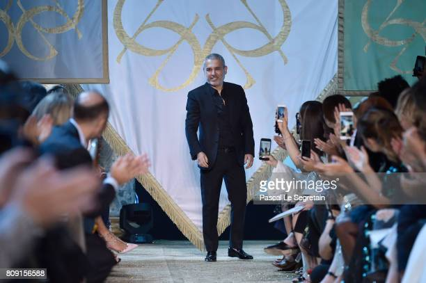 Elie Saab is seen on the runway during the Elie Saab Haute Couture Fall/Winter 20172018 show as part of Haute Couture Paris Fashion Week on July 5...