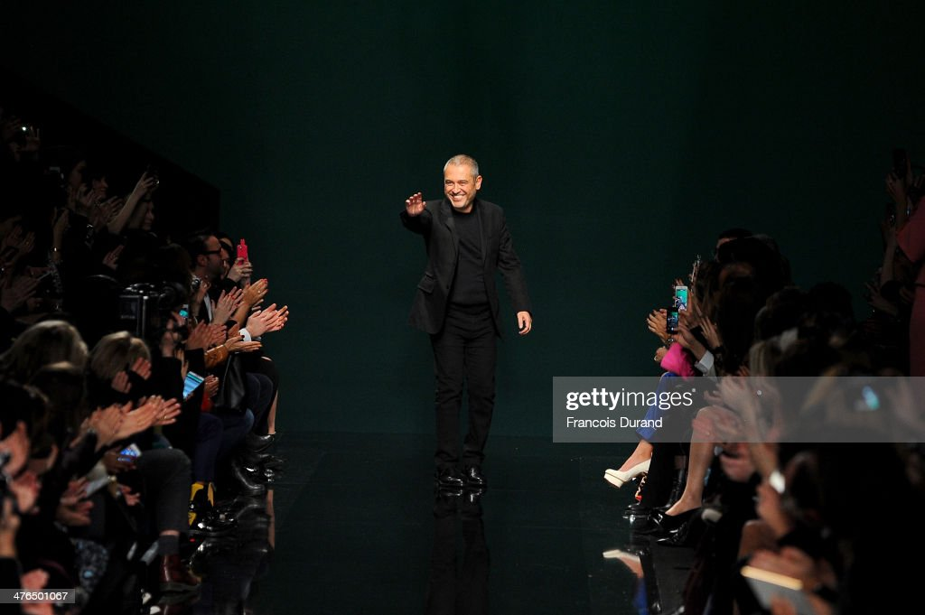 Elie Saab walks the runway during the Elie Saab show as part of the Paris Fashion Week Womenswear Fall/Winter 2014-2015 on March 3, 2014 in Paris, France.