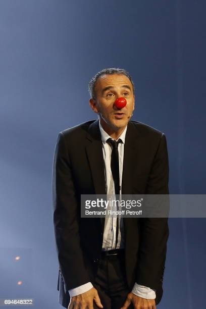 Elie Semoun performs during the 10th Anniversary of 'Le Point Virgule' at L'Olympia on June 10 2017 in Paris France