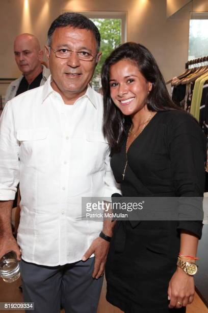 Elie Tahari and Ingrid Cardona attend ELIE TAHARI CFDA SPARKLE IN THE SUN EVENT at Elie Tahari Boutique on July 10 2010 in New York
