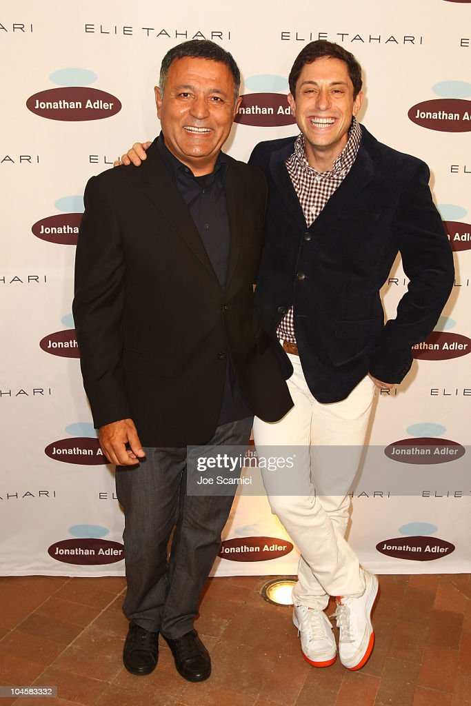 Elie Tahari (L) and <a gi-track='captionPersonalityLinkClicked' href=/galleries/search?phrase=Jonathan+Adler&family=editorial&specificpeople=2257680 ng-click='$event.stopPropagation()'>Jonathan Adler</a> attend the Elie Tahari and <a gi-track='captionPersonalityLinkClicked' href=/galleries/search?phrase=Jonathan+Adler&family=editorial&specificpeople=2257680 ng-click='$event.stopPropagation()'>Jonathan Adler</a> flagship store grand opening at Fashion Island on September 30, 2010 in Newport Beach, California.