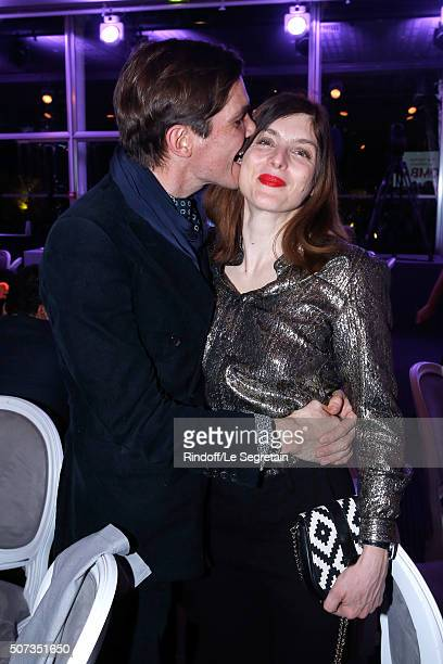 Elie Top and Valerie Donzelli attend the Sidaction Gala Dinner 2016 as part of Paris Fashion Week Held at Pavillon d'Armenonville on January 28 2016...
