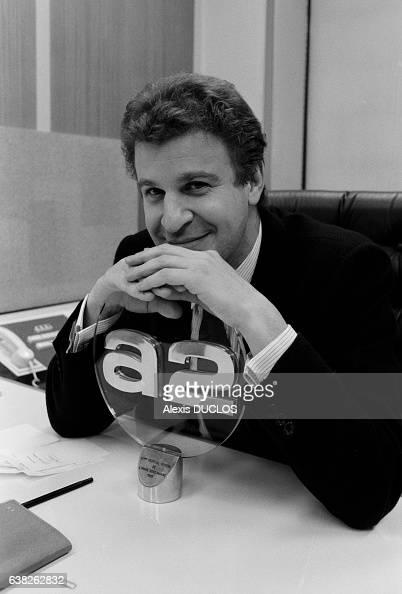 Elie Vannier directeur de la rédaction de la chaîne Antenne 2 à Paris France le 23 janvier 1987