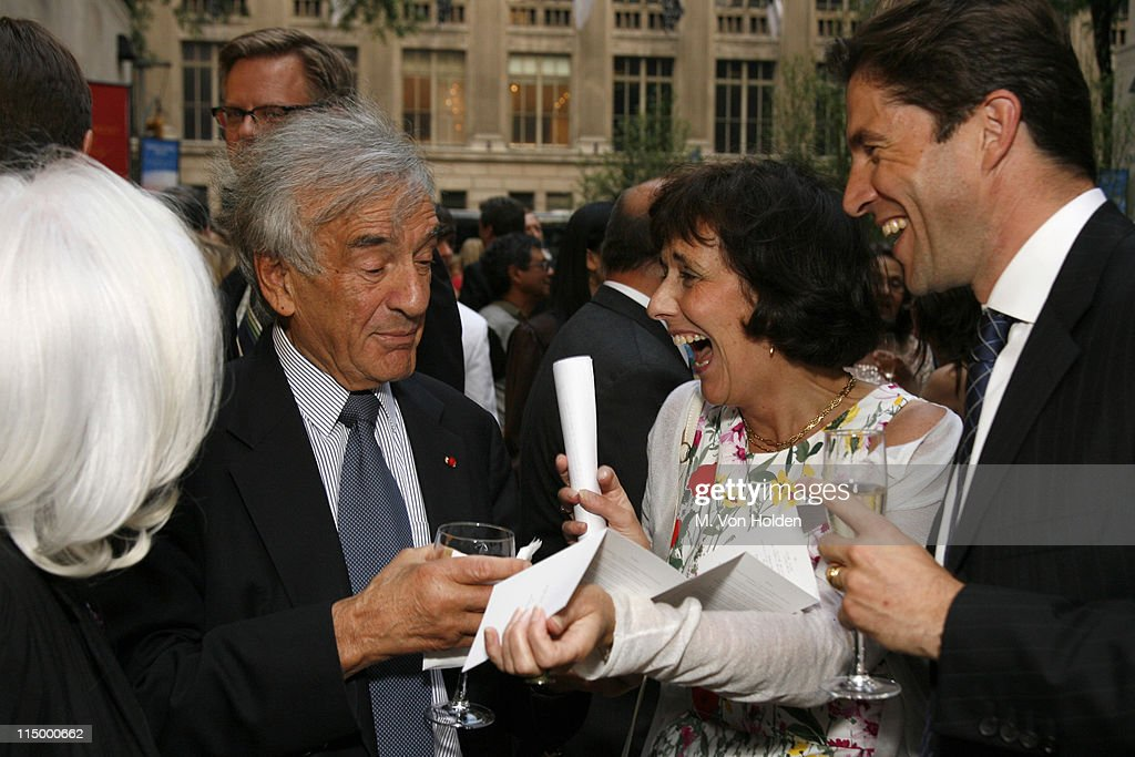 Elie Weisel, Noble Peace Prize Winner, Agnes Winter, Monument to Smile Artist, Frederic De Narp, President and CEO, Cartier North America