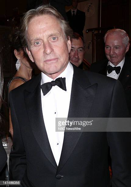 NBC NEWS Elie Wiesel Foundation for Humanity to Honor Nicolas Sarkozy Pictured Actor Michael Douglas during the Elie Wiesel Foundation for Humanity...