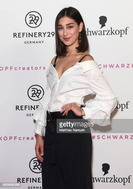 Elif attends the Schwarzkopf x Refinery29 event at Bar Babette on June 8 2017 in Berlin Germany