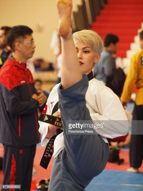 Elif Aybuke Yilmaz a Turkish athlete participating in the 10th WTF World Taekwondo Poomsae Championship taking place in Lima Peru