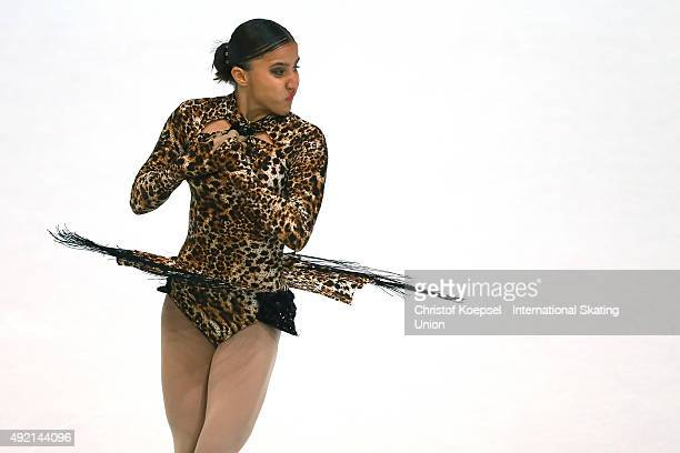 Elif Erdem of Turkey skates during the junior ladies free skating of the ISU Junior Grand Prix at Dom Sportova on October 10 2015 in Zagreb Croatia