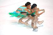 Elif Erdem of Turkey skates during the junior ladies short dance of the ISU Junior Grand Prix at Dom Sportova on October 8 2015 in Zagreb Croatia