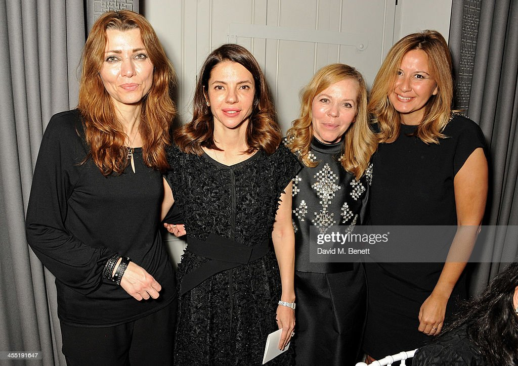 <a gi-track='captionPersonalityLinkClicked' href=/galleries/search?phrase=Elif+Shafak&family=editorial&specificpeople=607862 ng-click='$event.stopPropagation()'>Elif Shafak</a>, <a gi-track='captionPersonalityLinkClicked' href=/galleries/search?phrase=Ece+Ege&family=editorial&specificpeople=3077395 ng-click='$event.stopPropagation()'>Ece Ege</a>, Ayse Ege and Demet Muftuoglu attend an intimate dinner hosted by ISTANBUL'74 to celebrate Dice Kayek's 'Istanbul Contrast' collection, winner of the Victoria & Albert Museum's Jameel Prize, and launch Dice Kayek's 'Instanbul Contrast' book, created and designed by ISTANBUL'74 with its creative agency '74STUDIO, at The Arts Club on December 11, 2013 in London, England.