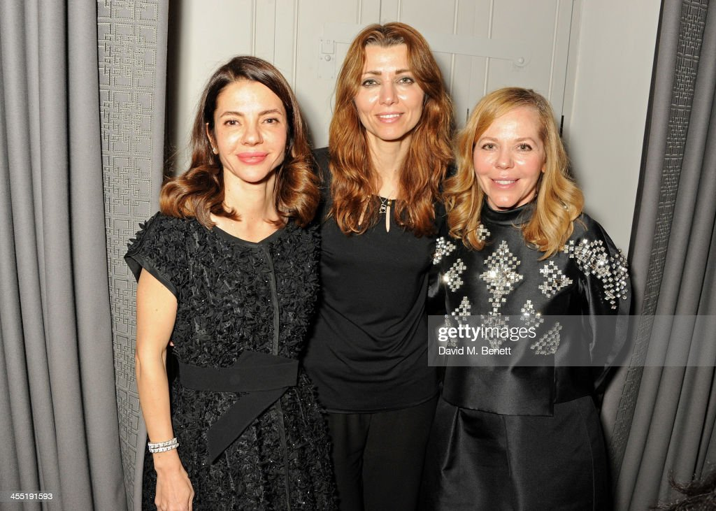 <a gi-track='captionPersonalityLinkClicked' href=/galleries/search?phrase=Elif+Shafak&family=editorial&specificpeople=607862 ng-click='$event.stopPropagation()'>Elif Shafak</a> (C) poses with <a gi-track='captionPersonalityLinkClicked' href=/galleries/search?phrase=Ece+Ege&family=editorial&specificpeople=3077395 ng-click='$event.stopPropagation()'>Ece Ege</a> and Ayse Ege of Dice Kayek at an intimate dinner hosted by ISTANBUL'74 to celebrate Dice Kayek's 'Istanbul Contrast' collection, winner of the Victoria & Albert Museum's Jameel Prize, and launch Dice Kayek's 'Instanbul Contrast' book, created and designed by ISTANBUL'74 with its creative agency '74STUDIO, at The Arts Club on December 11, 2013 in London, England.