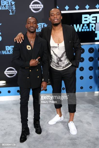 Elijah Kelley and Woody McClain at the 2017 BET Awards at Microsoft Square on June 25 2017 in Los Angeles California